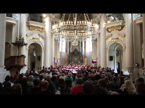 Choral performance in Prague