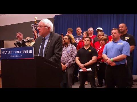 """I will fundamentally rewrite NAFTA"" - Sanders rails against TPP & Trade Agreements"