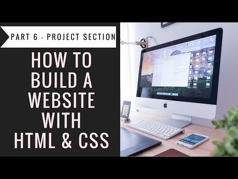 How To Build A Website With Html & CSS - Part6 Projects Section
