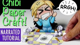 How to Draw a Frustrated Chibi: Paper Craft Tutorial