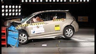 Teste de Colisão Nissan Tiida Hatch - Crash Test Br