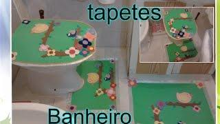 COMO FAZER JOGO DE TAPETES PARA BANHEIRO EM EVA
