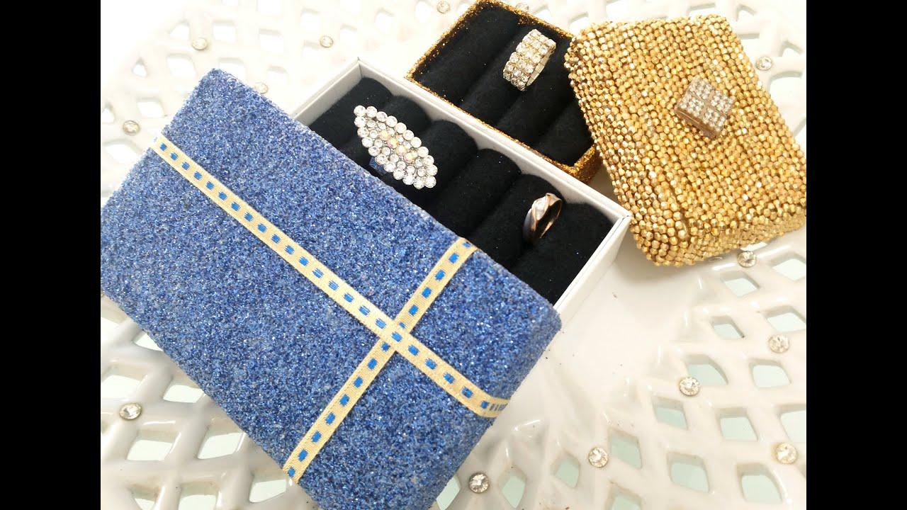 Creative craft - DIY : Recycle unused box into jewellery box - YouTube