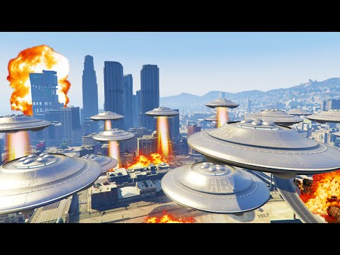 UFO INVASION MOD! (GTA 5 Funny Moments)