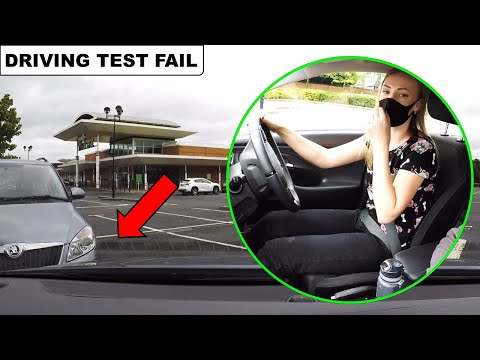 Learner Driver Hits Car When Parking On Driving Test (Almost)