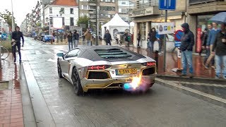 Lamborghini Aventador w/ Capristo Carbon Edition Exhaust - LOUD Revs, Accelerations & Drag Races !