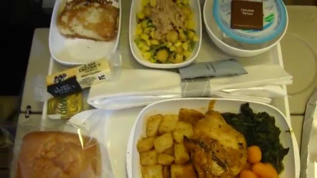 Emirates Economy Class Menu Amp Meals Youtube