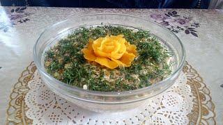 Надоело Оливье Попробуйте Новый Салат с Шинкой Сыром Овощами и Чесноком