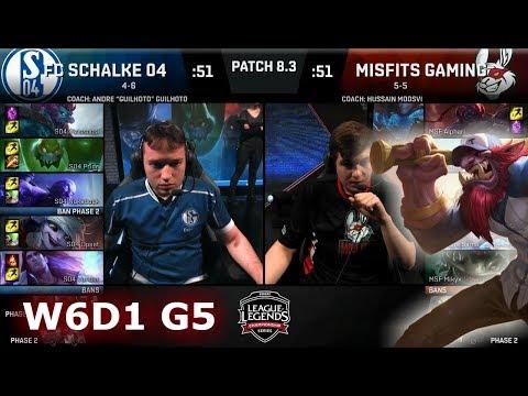 FC Schalke 04 vs Misfits | Week 6 Day 1 of S8 EU LCS Spring 2018 | S04 vs MSF W6D1 G5