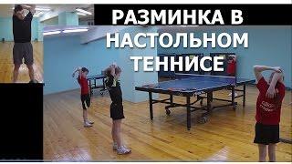 Разминка в НАСТОЛЬНОМ ТЕННИСЕ (Техника проведения разминки настольный теннис)