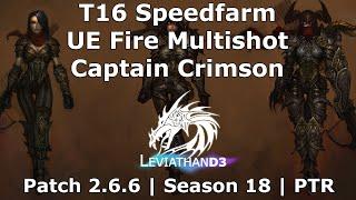 [Diablo 3] UE Fire Multishot Captain Crimson Demon Hunter | T16 Speedfarm  Patch 2.6.6 PTR Season 18