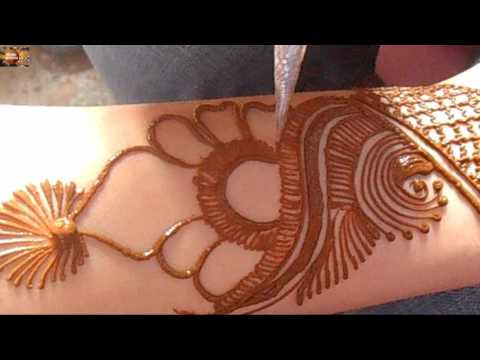 Wrist mehndi design for bride