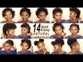 14 SUPER QUICK AND EASY HAIRSTYLES ON SHORT 4C HAIR | NATURAL HAIRSTYLE | BACK TO SCHOOL HAIRSTYLES