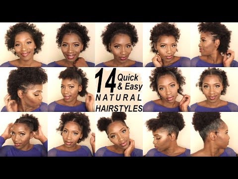 14 SUPER QUICK AND EASY HAIRSTYLES ON SHORT 4C HAIR | BACK TO SCHOOL HAIRSTYLES | SHAKEIRA C
