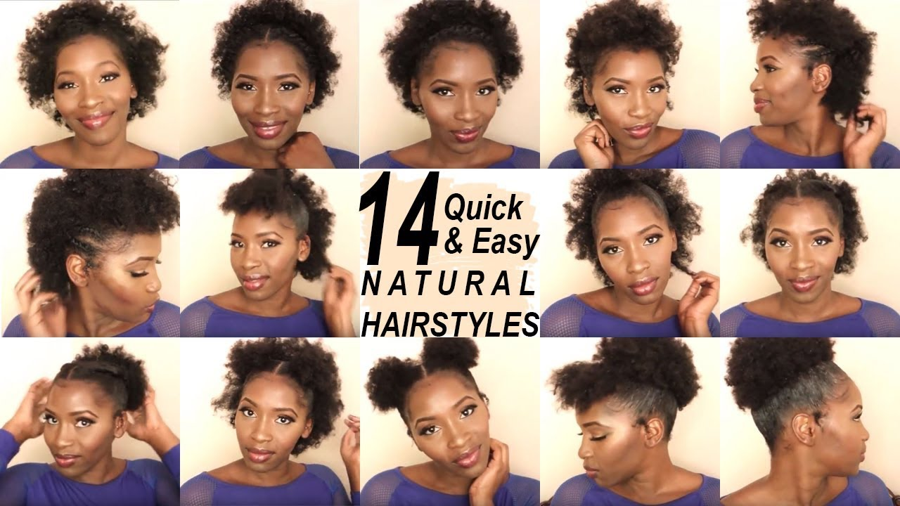 14 Super Quick And Easy Hairstyles On Short 4c Hair Back To School Hairstyles Shakeira C Youtube