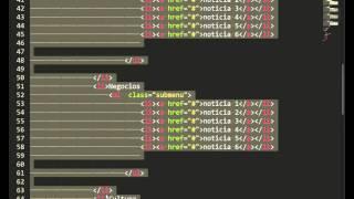 Menu en HTML5 con CSS