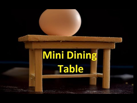 DIY Mini Dining Table wooden craft