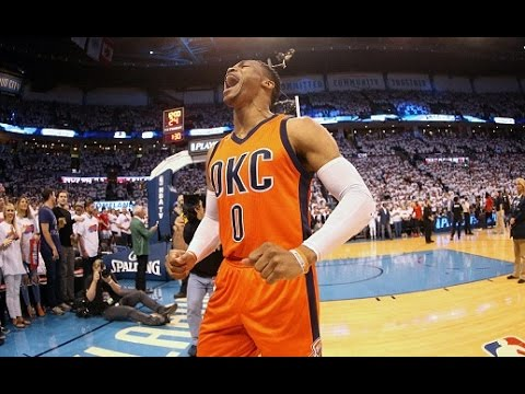 Westbrook Notches A Triple-Double In The 1st Half Of Game 4! | April 23, 2017