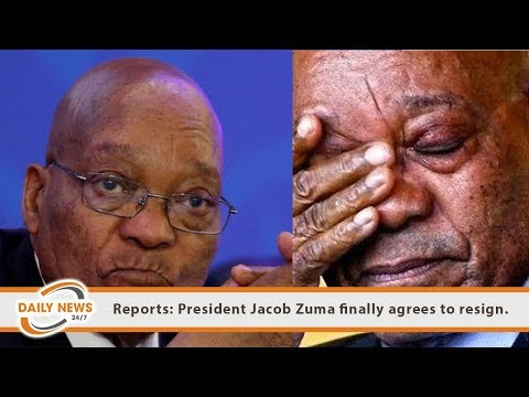 Reports: President Jacob Zuma finally agrees to resign.