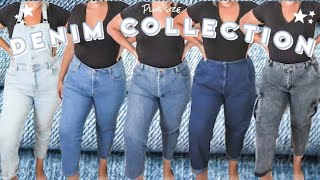 My ENTIRE Plus Size Jean Collection  *Plus Size Denim Try On*