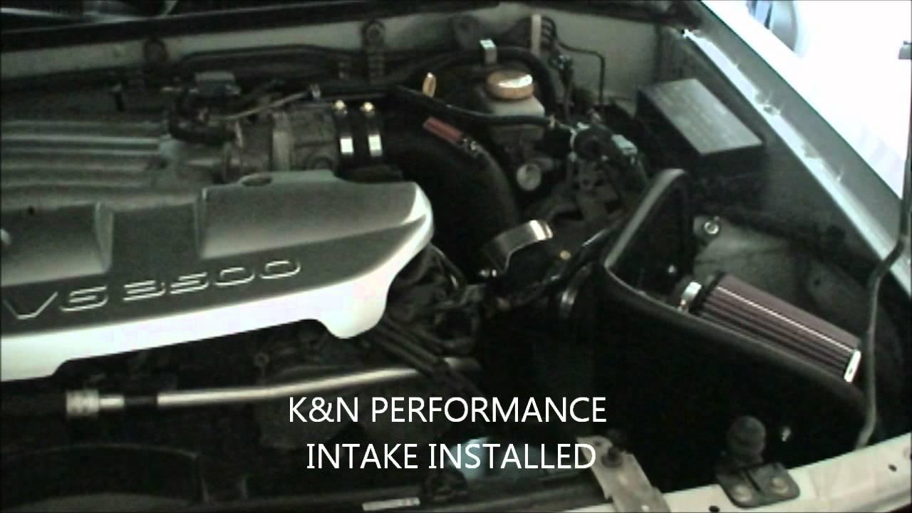 Nissan Pathfinder - K&N Air Intake System Sound Comparison ...