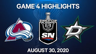 NHL Highlights | 2nd Round, Game 4: Avalanche Vs. Stars – Aug. 30, 2020
