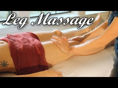 How To Massage Legs; Swedish vs. Deep Tissue Therapy Techniques , Jen Hilman ASMR