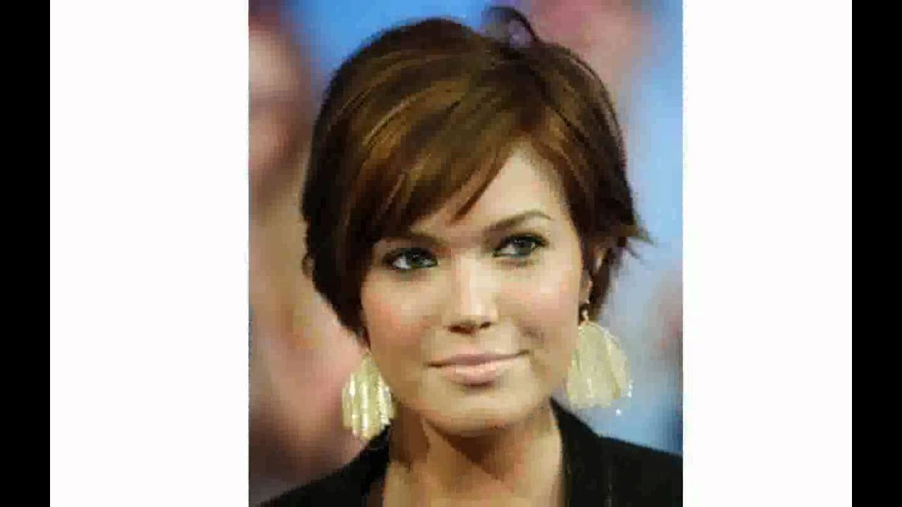 short hairstyles for fat faces women