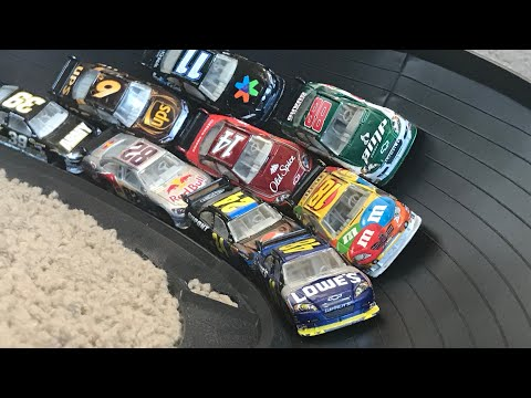 Nascar 3 Wide Fat Track Race [CUP CARS] | JonRacer3