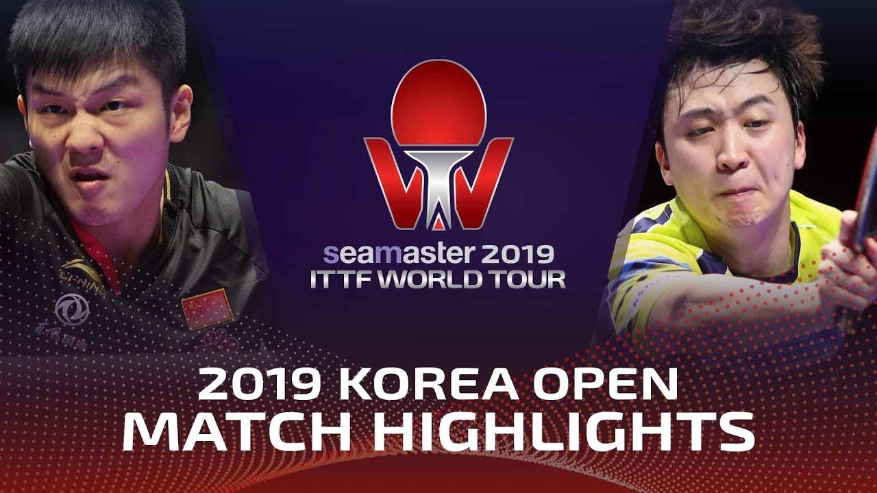 Fan Zhendong vs Jeoung Youngsik | 2019 ITTF Korea Open Highlights (1/4)