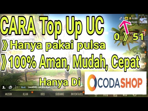 Cara Mudah Top Up UC PUBG MOBILE VIA PULSA DI CODASHOP