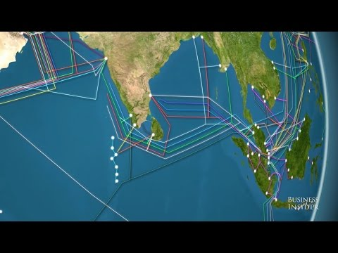 Animated map the world's undersea internet cables