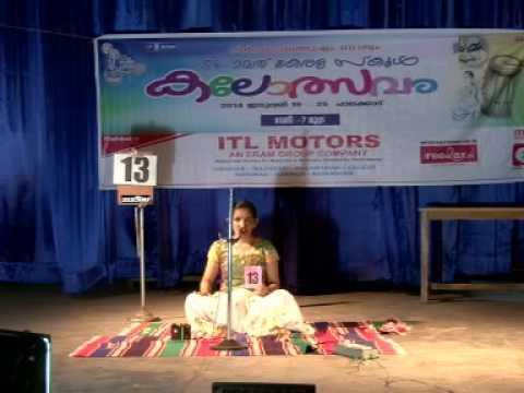 54th kerala state school kalolsavam-Vismaya uday -Classical music-First prize