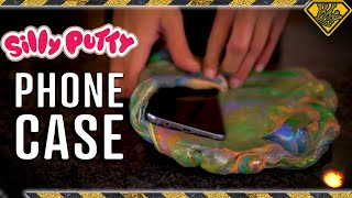 Silly Putty Phone Drop to Cement