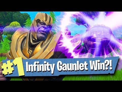 INFINITY GAUNTLET GAMEPLAY AS THANOS! - Fortnite Battle Royale thumbnail