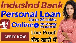 Indusind Bank Personal Loan/Loan Kaise Le Mobile Se/Online Loan Kaise Le/Personal Loan Kaise Le 2021
