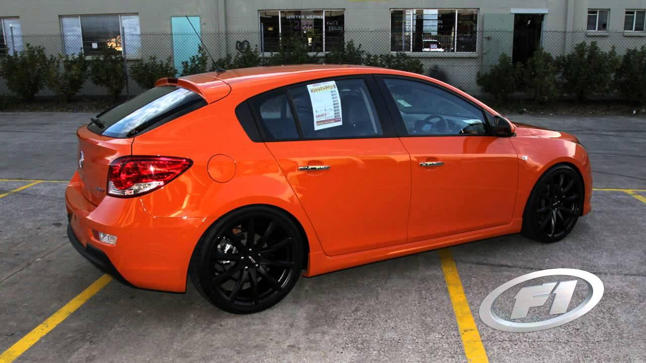 Chevy Cruze Wheels >> Holden Cruze 20 inch custom rims DTM GTR black wheels - YouTube