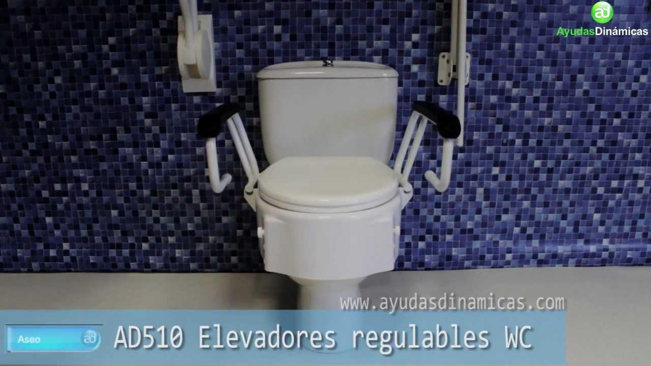 Elevadores de wc regulables en altura e inclinaci n ayudas for Inodoro discapacitados