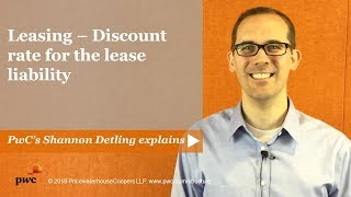 Leasing - Discount rate for the lease liability