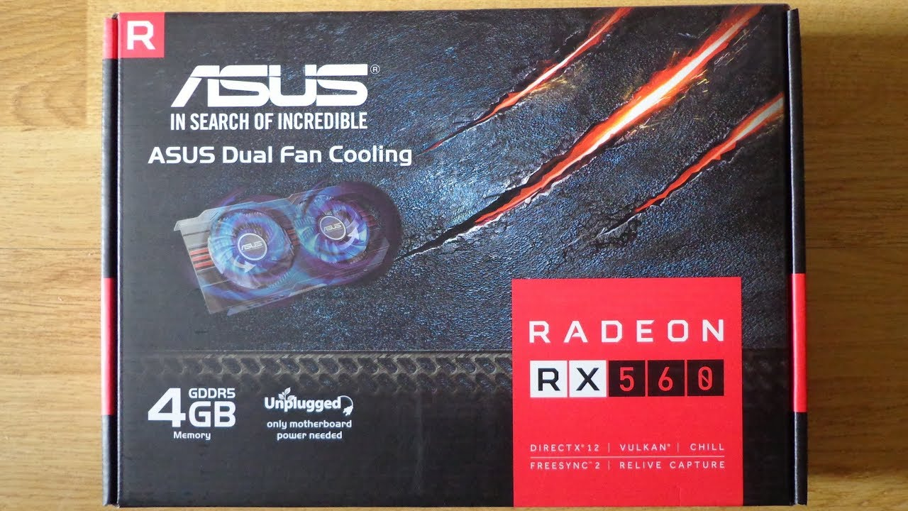 Asus RX560 4GB Unboxing