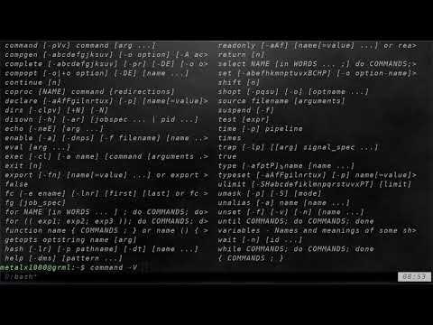 07 The Help Command Linux Shell Tutorials