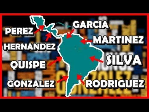 Apellidos más comunes de Latinoamérica por PAÍS | Peruvian Life