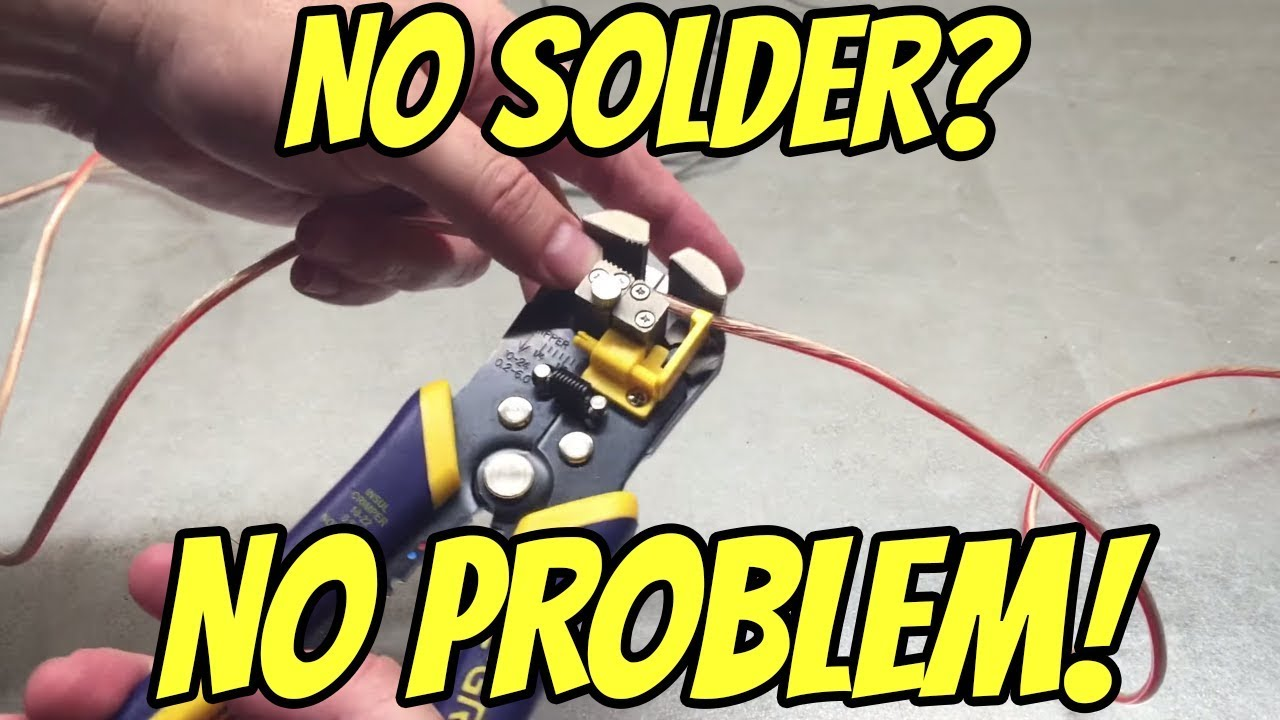 the correct way to t splice an automotive wire without solder [ 1280 x 720 Pixel ]