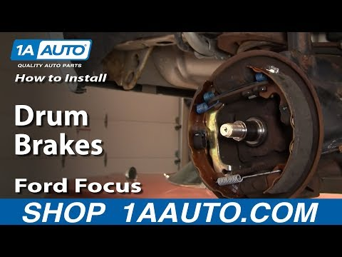 How to Replace Rear Drum Brakes 00-08 Ford Focus - YouTubeYouTube