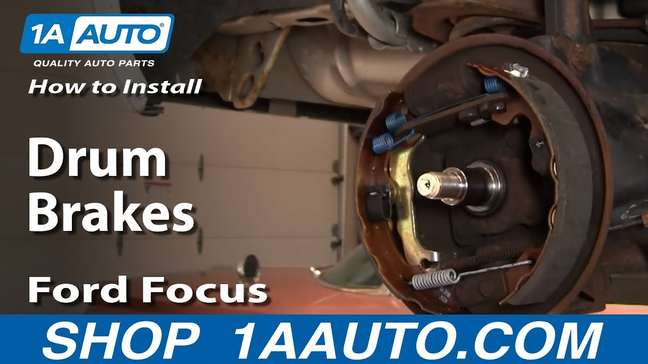 How To Replace Rear Drum Brakes 00 08 Ford Focus Youtube