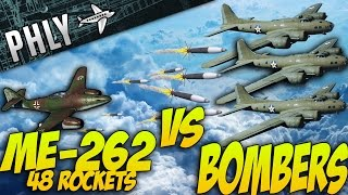 War Thunder - JETS VS BOMBERS - Me-262 48 Rockets OF DOOM!