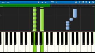 愛を叫べ(ピアノ) 嵐 初級 Synthesia〔シンセシア〕(無料ソフト)自...