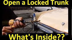 Open a Car Trunk Not opened in 20 years with no Key ~ How To Drill out a Lock