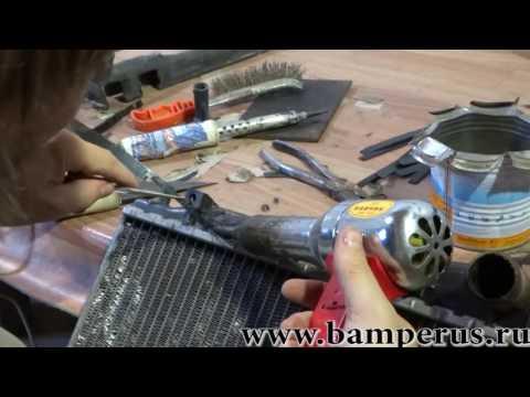 профессиональный ремонт бачка радиатора. Уроки, обучение.