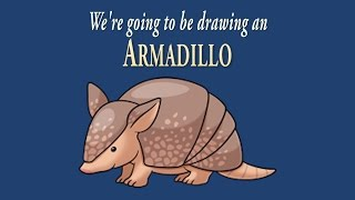 How to Draw a Cute Little Armadillo | Easy Drawing | ArtNinja